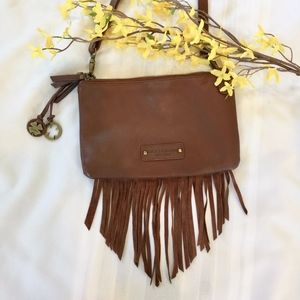 Lucky Brand Brown Boho Tassel Fringe Crossbody Bag